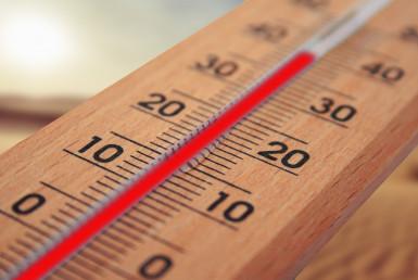 canicule, caen, thermometre, mercure