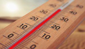 canicule, caen, thermomètre, mercure, chaleur